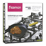 Сковорода чугунная с рифленым дном Fissman 23 см (Антипригарное покрытие), фото 5
