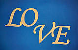 Слово LOVE  заготовка для декупажа декора, фото 2