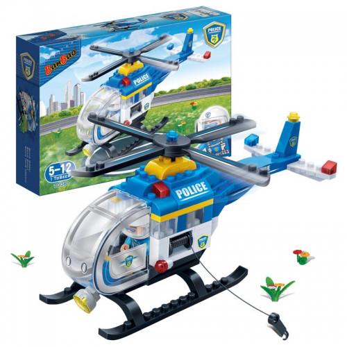 Конструктор BANBAO 7008 поліція, гелікоптер, фігурка, 122 деталі, коробка, 28-19-5,5 см