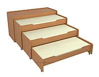 Кровать трёхъярусная с тумбой