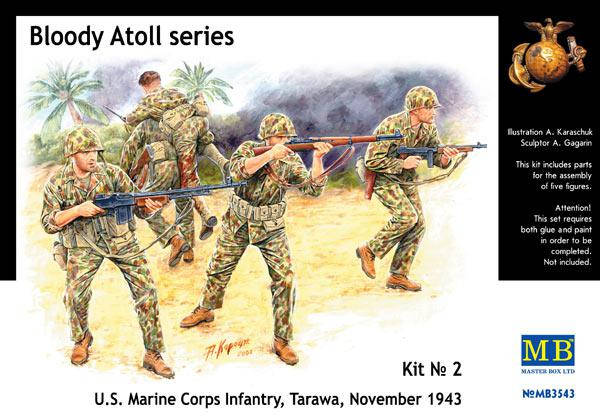 Bloody Atoll series. Kit No 2. U.S. Marine Corps Infantry, Tarawa, November 1943. 1/35 MB3543, фото 2
