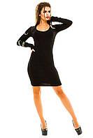 Черное с Белым Абстрактным Узором Платье Без Рукавов — в Категории ... 970400ed95d