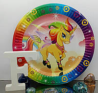 Тарелки для детского праздника Единорог 18 см