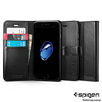 Книжка - Чехол Spigen для iPhone 8 / 7 Wallet S, Black
