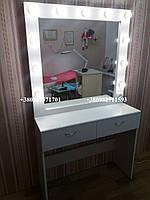 Стол для макияжа с 2мя ящиками. Модель А130.белый, фото 1