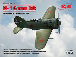 Советский истребитель И-16 тип 28. 1/32 ICM 32002