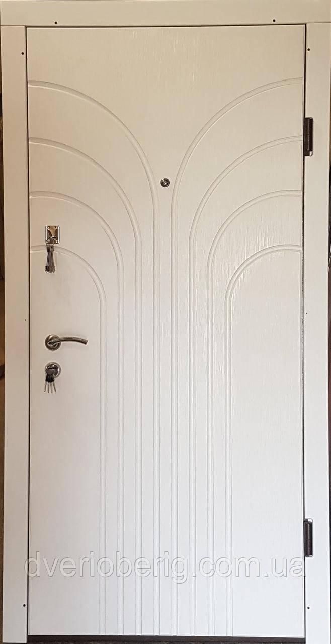 Вторая входная дверь модель П3-274 скол дуба белый