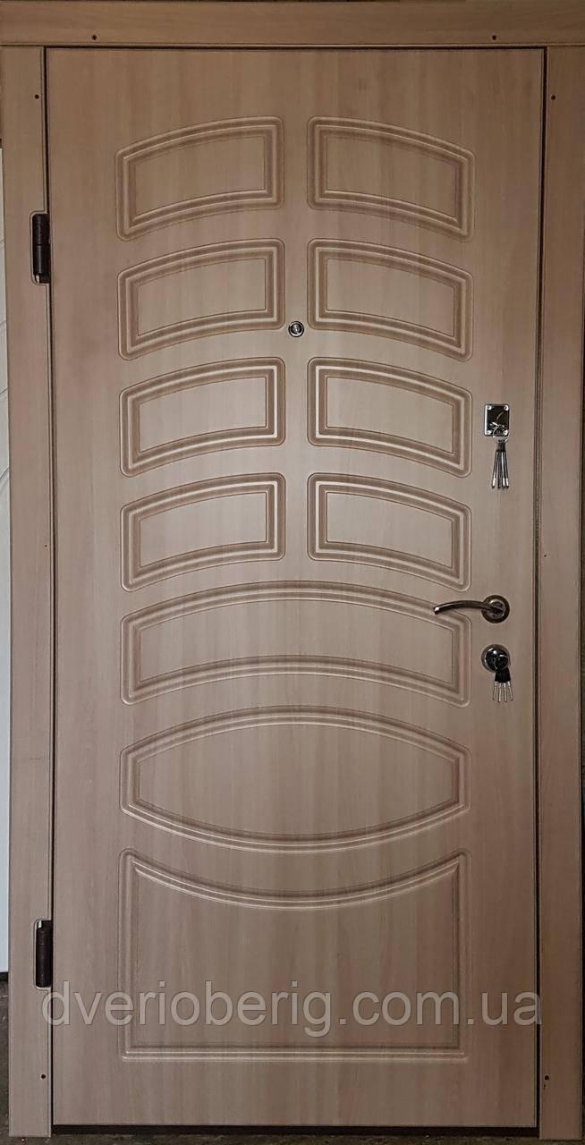 Входная дверь модель П3-190 дуб шимо светлый