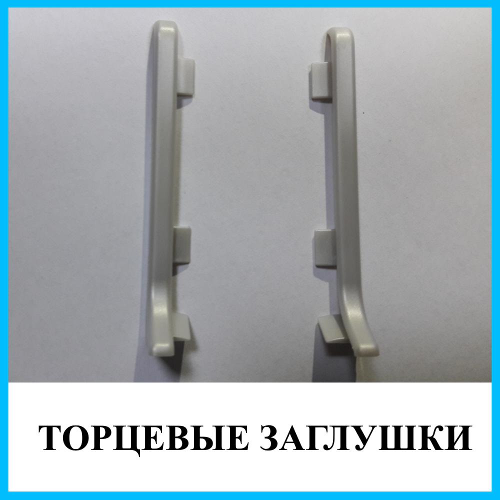 Торцевые заглушки к плинтусу из нержавеющей стали ПН-6010С