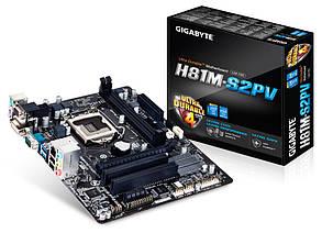 "Материнская плата Gigabyte GA-H81M-S2PV Socket 1150 DDR3 H81 ""Over-Stock"" Б/У"