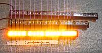 Фара вспышка LED315-4. 12-24 В.   жёлтая, стробоскопы светодиодные.