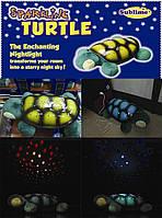 Ночник проектор звездного неба Музыкальная черепаха (Turtle Night Sky), Ночник-проектор Sparkling Turtle