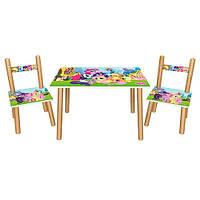 Детский деревяный столик 501-26 с стульчиками