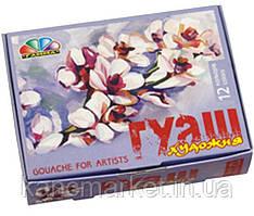 Краски-гуашь12 цветов, 20 мл.художественные