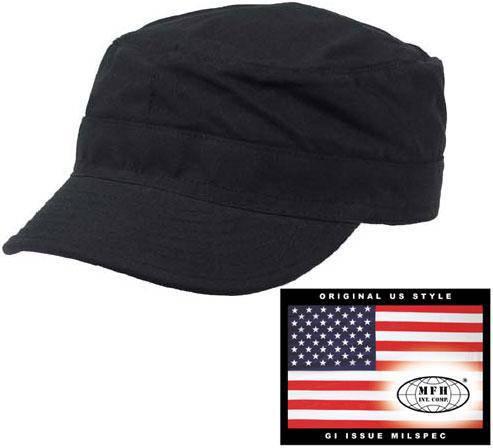 Армейская кепка US BDU Rip Stop (XXL) чёрная MFH 10213A, фото 2