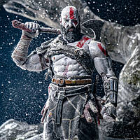 Подробные фото фигурки от NECA Kratos God of War 2018