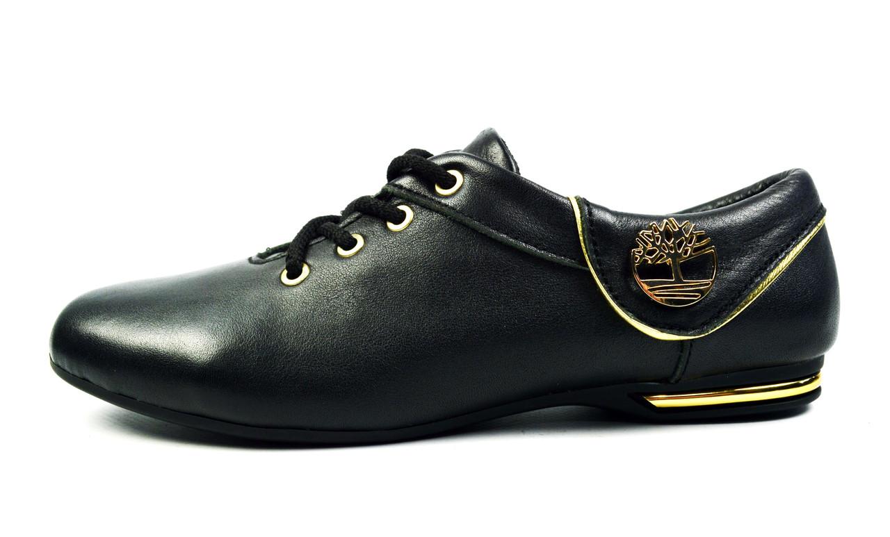 Черные кожаные кроссовки женские, подростковые TIMBERLAND