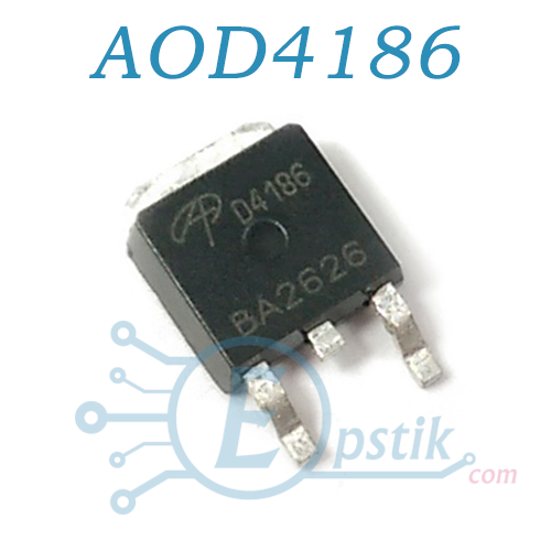 AOD4186, MOSFET транзистор N канал, 40В, 35А, TO252