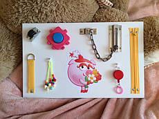 "Развивающая доска для детей Busy Board ""Смешарики"", по методики Монтессори, размер  40х25"