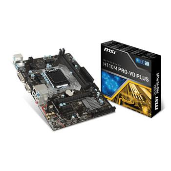 "Материнская плата MSI H110M PRO-VD PLUS s.1151 DDR4 ""Over-Stock"""