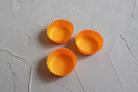 Бумажные одноразовые формочки для конфет, оранжевый