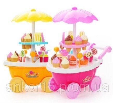 Игровой набор Магазин Тележка со сладостями 668-25-26 свет, звук, 39 предметов
