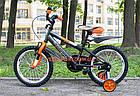 Детский велосипед Azimut Stitch 16 дюймов серый, фото 8