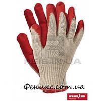 Перчатки защитные, покрытые резиной