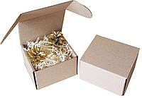 Подарочная коробочка с сеном малая, Ш90хД90хВ65мм, фото 1
