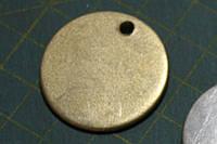 Адресник-кулон для собаки диаметр 32мм золотистый Эконом