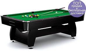 Бильярдный стол игровой, профессиональный VIP Extra 7FT black-green для дома с доставкой, Львов