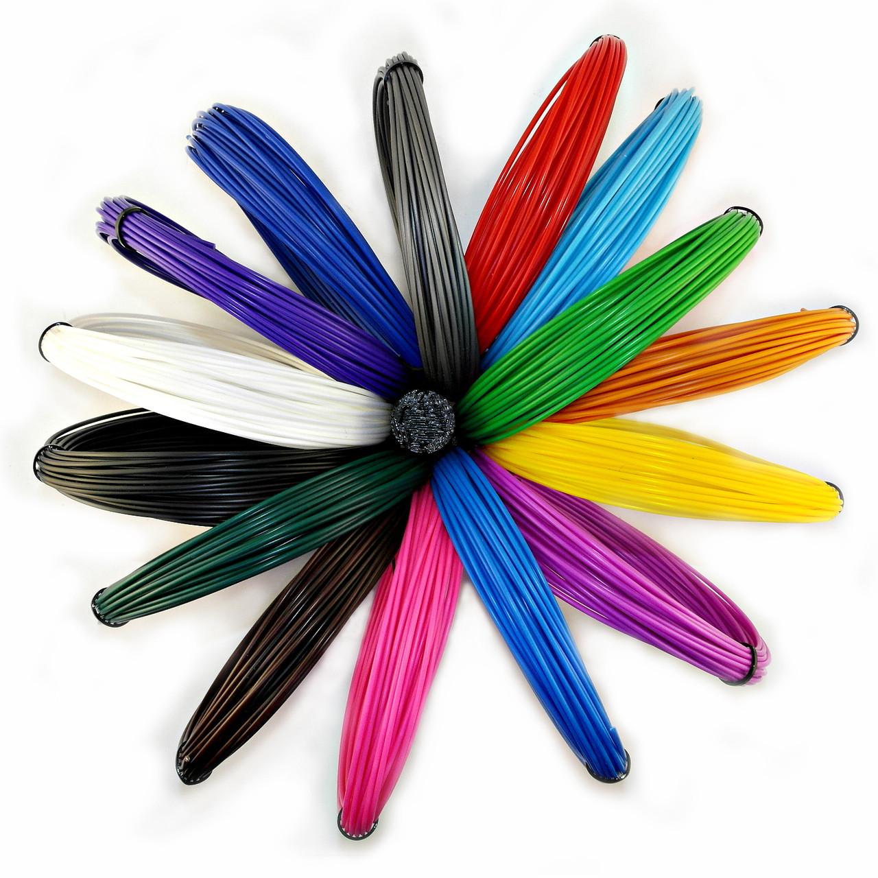 """Набор АБС ABS пластика для 3D ручки 15 цветов 150 метров, """"Исследователь"""""""