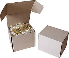 Подарочная коробка с сеном малая, Ш115хД95хВ100мм