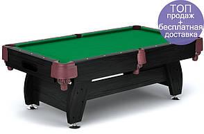 Бильярдный стол игровой, профессиональный VIP Extra 8FT black-green с сетками для дома , Львов