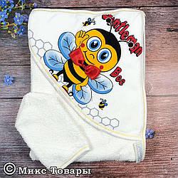 Детское полотенце для купания Пчелка Размер: 75х 75 см Турция (6016)