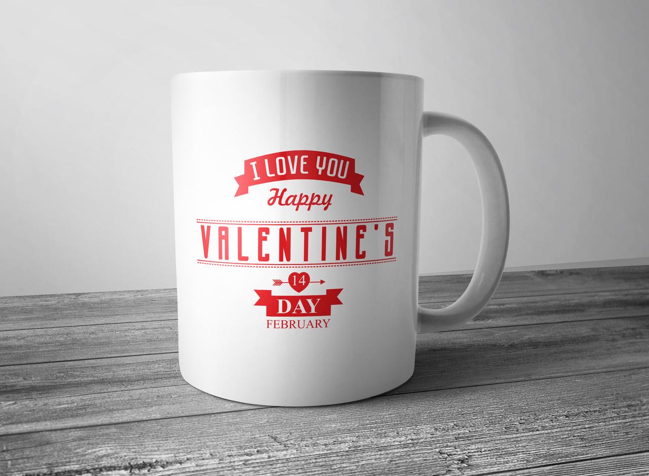 Чашка ко дню Святого Валентина