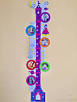 """3D наклейки на стену ростомер """"Замок принцессы"""" Bambi"""