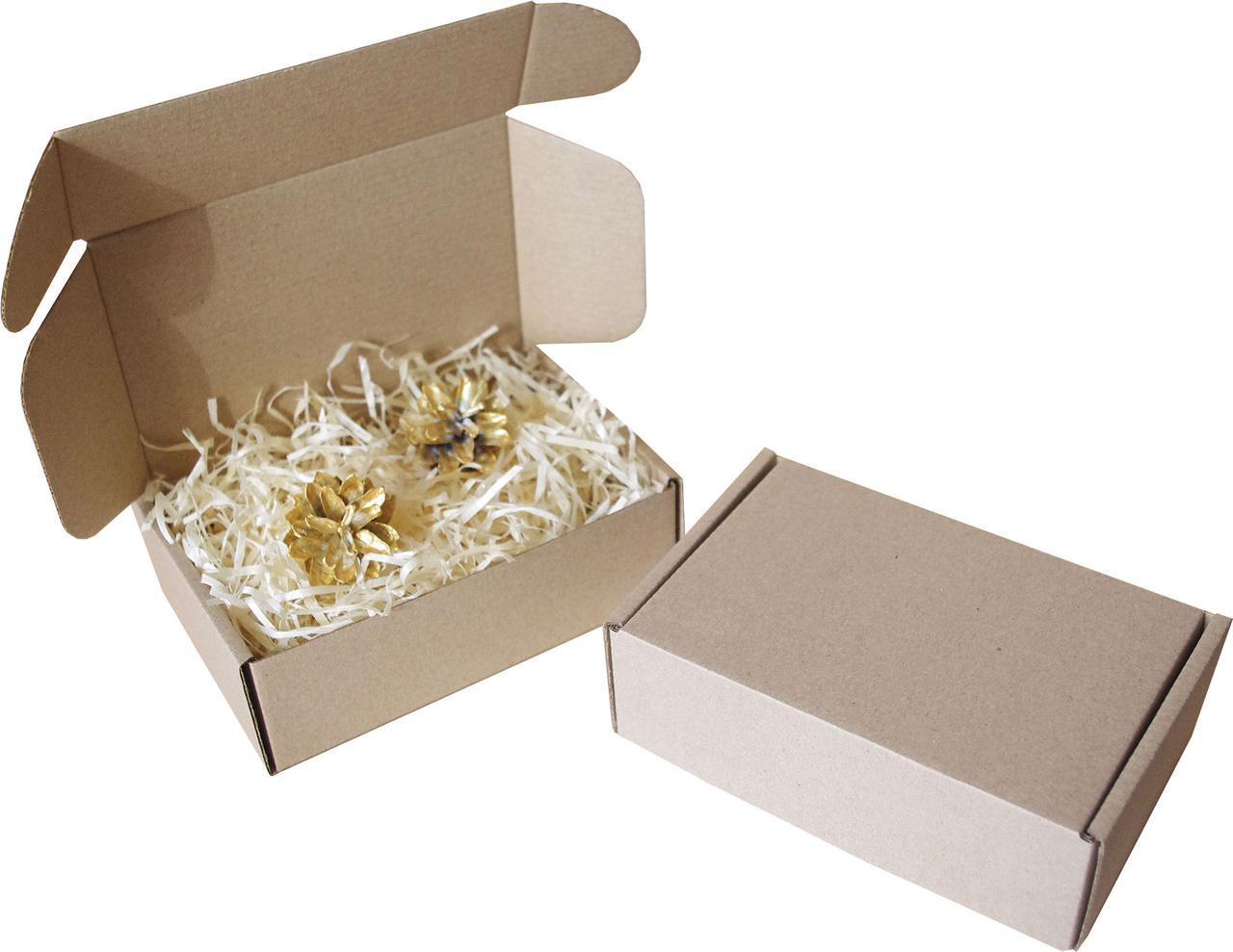 Подарочная коробка с сеном малая, Ш150хД100хВ50мм