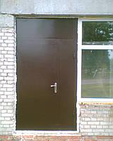 Дверь металлическая двухстворчатая утепленная