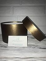 Коробка круглая цвет золото тёмное h10/d15 для подарка, цветов, сладлостей