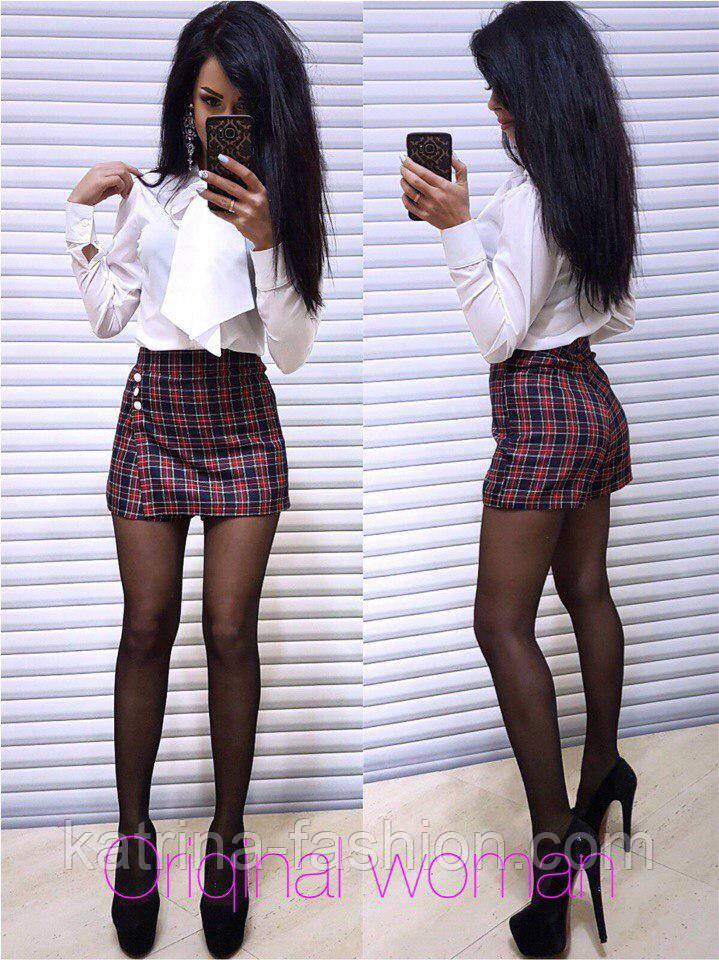 Женская юбка-шорты (3 цвета)