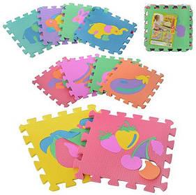 Развивающий коврик-мозаика Bambi (Metr+) M 0376 Фрукты+животные