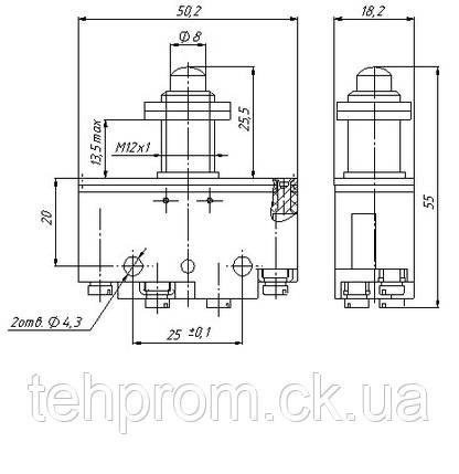 Микропереключатель ВП73-21-10231 (аналог МП-1104), фото 2