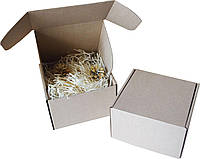 Подарочная коробочка с сеном большая, Ш155хД155хВ100мм, фото 1