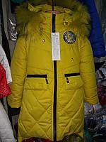 Пальто зимнее с меховой опушкой