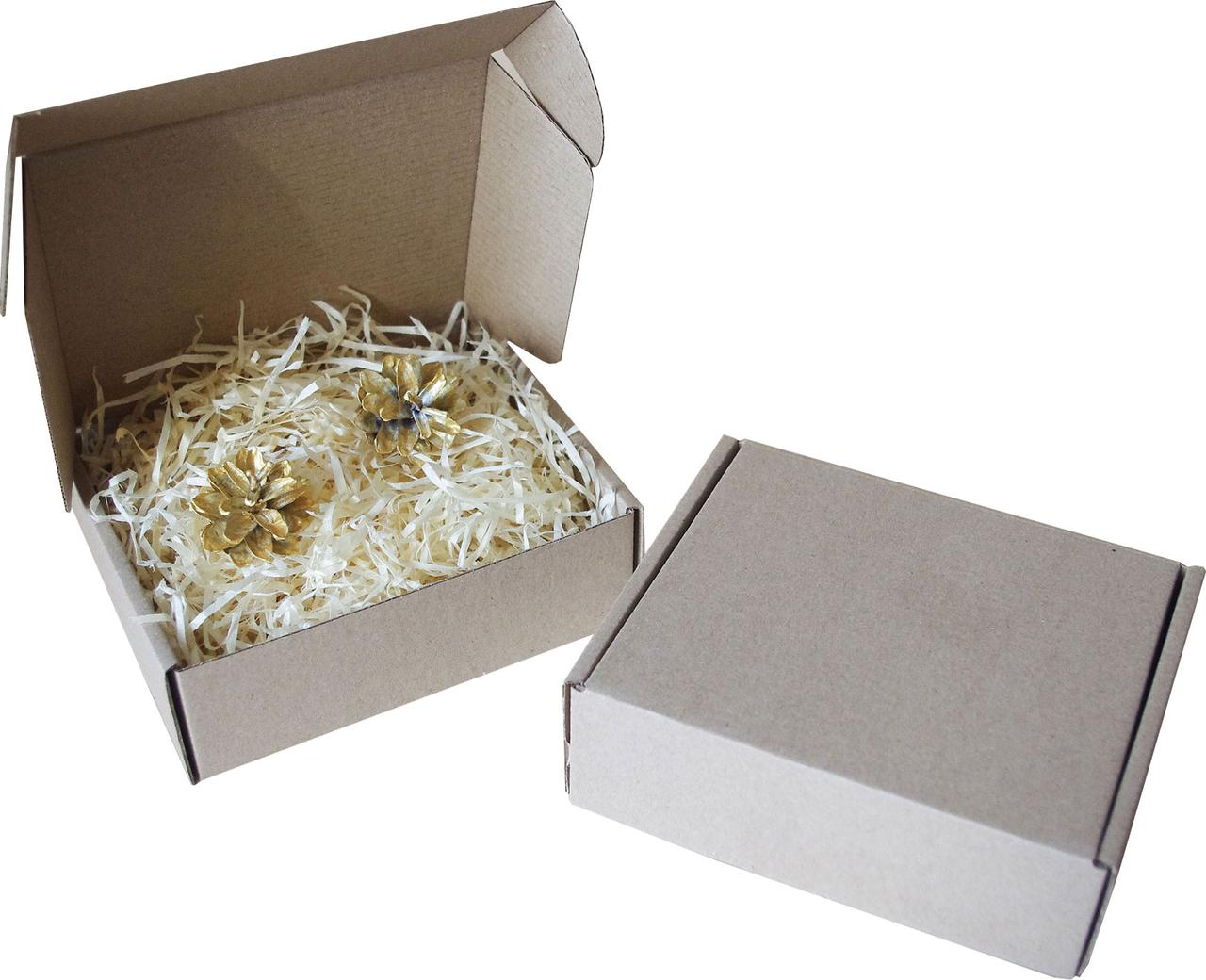 Подарочная коробочка с сеном большая, Ш155хД130хВ50мм
