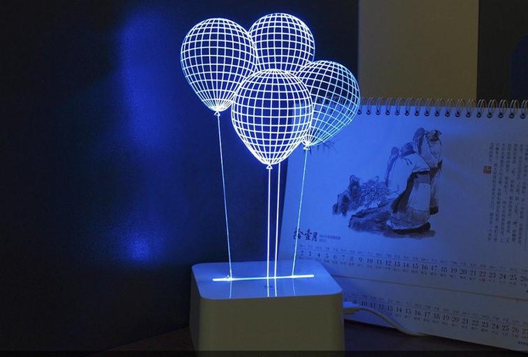Ночник: воздушные шарики! Оригинальный светильник!