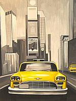 """Полотно на картоні з контуром, Міста """"Нью-Йорк"""", 30*40, бавовна, акрил, ROSA START"""