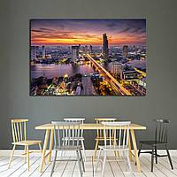 Картина - панорамный вид на Бангкок