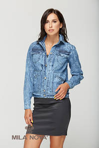Куртка коттон джинс синяя